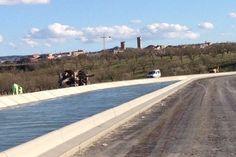 Verdú, amb el Canal Segarra-Garrigues als peus