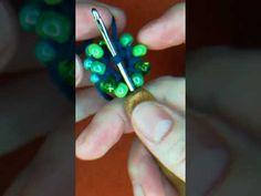 Ferde gyöngy horgolás- óriás gyöngyökkel - YouTube Beading Techniques, Bead Crochet, Turquoise, Make It Yourself, Beads, Rings, Youtube, Jewelry, Tutorials