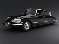Citroën DS. Styled by Italian sculptor and industrial designer Flaminio Bertoni and the French aeronautical engineer André Lefèbvre. aerodynamic, futuristic, innovative with hydropneumatic self-levelling suspension (1955-75)