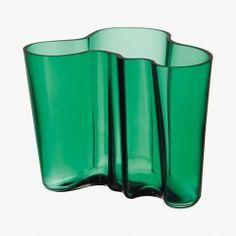 Alvar Aalto, Vase 160 mm, émeraude - IITTALA