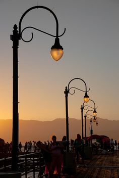 Old pier lamp posts