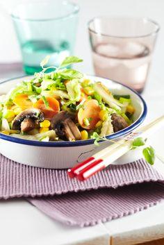 Sieni-kasviswokki | Muut sesongit/teemat | Pirkka #food #vegetarian #ruoka #kasvisreseptit