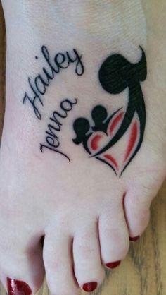 Resultado de imagem para mother and two children tattoo