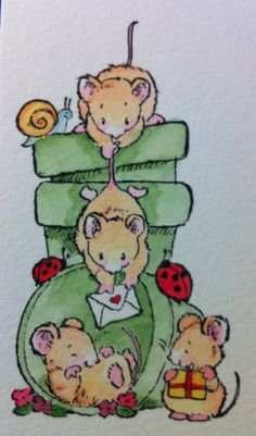 Cute mice that feature in a lot of my cards :)
