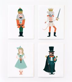 ADORE this Assorted Nutcracker Set! I would love to frame one of each for holiday decor!