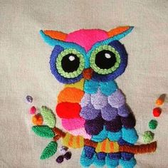 embroidery that inspires Mexican Embroidery, Bird Embroidery, Hand Embroidery Designs, Cross Stitch Embroidery, Embroidery Patterns, Machine Embroidery, Bargello, Fabric Painting, Handicraft