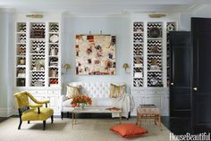 Christina Murphy  love the chevron pattern for back of bookcases!