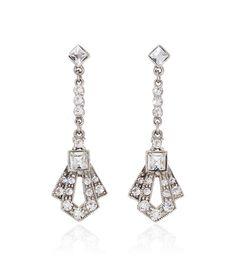 Bridal Crystal Gatsby Earring | 30070180 | Thomas Laine