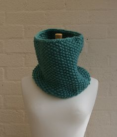Chunky knit Snood in Frost choose a by StripesnCables on Etsy