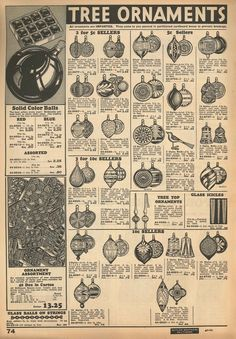"""1934 Butler Brothers Catalog (bib no. 96000, page 74). Note the statement under the Tree Ornaments heading: """"All ornaments are IMPORTED"""