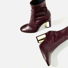 HEEL DETAIL ANKLE BOOTS | vegan shoes | vegan booties