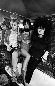 The Slits in Ari's west London flat, 1979. Photo by Adrian Boot.