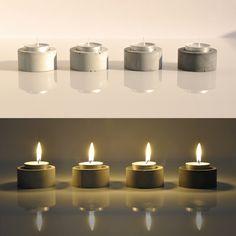 Concrete Tea Candle Holder: Naver Blog (Korean. Google translate helps, kind of)
