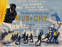 Edward Bawden - Poster for the Ealing Comedy Hue & Cry, 1947