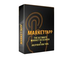 Unearth Secret Niches (and MicroNiches) With theMost Powerful Niche Marketing Software... Introducing the Ultimate Market Research & Inspiration Tool   MarketTapp Reveals Hidden UNTAPPED Niche Markets Drills DEEPTo Spotlight Ideas & Opportunities You'd NEVER Think Of On Your Own Exposes Buried PROFITS! Removes the Confusion of Knowing Which Niche Markets Are Actually Out There!…