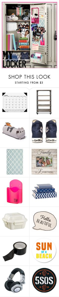 """""""Decorate Your Locker"""" by sedf2 ❤ liked on Polyvore featuring interior, interiors, interior design, home, home decor, interior decorating, House of Doolittle, Franklin, Converse and Safavieh"""
