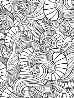 Doodles 67 Advanced Coloring Pages Pattern Coloring Pages, Coloring Book Pages, Printable Coloring Pages, Coloring Sheets, Doodle Patterns, Zentangle Patterns, Color Patterns, Zentangles, Doodle Art