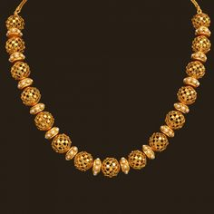 Gold Antique Short Necklace set (110A11499) | Vummidi Bangaru Jewellers