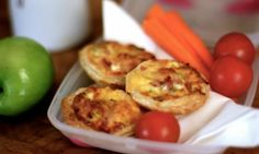 Kids love little quiches, and two or three of these will make the perfect lunch box filler. Cook them the night before and pack with some carrot sticks and cherry tomatoes for a wholesome school day meal.
