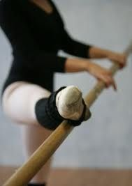 Hard at work, as ballet dancers often are.