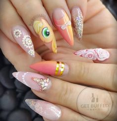 """of course from the amazing lady herself Using all GellyFit Gel Polish Glitter from another Amazing lady…"""" Uv Nails, Acrylic Nails, Gel Uv, Unicorn Nails, Disney Nails, Nail Games, Beautiful Nail Designs, Nail Swag, Nail Artist"""