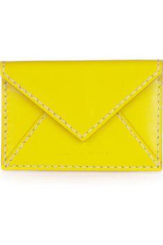 Jil Sander  Envelope leather card holder
