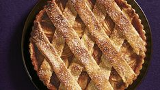 As delicious as it is pretty, this lattice-topped tart combines fall fruit with warm cardamom in a tender hazelnut crust. Salted caramel ties the flavors together, and large-crystal sanding sugar on the lattice adds crunch. Quinoa, Pear Tart, Pear Pie, Tart Shells, Fall Fruits, Savarin, Tart Recipes, Apple Recipes, Holiday Recipes