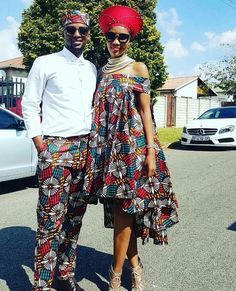 Looking at different dress styles for Couples African Shweshwe Designs For Wedding, it is easy to see why people continue to appreciate African wear.