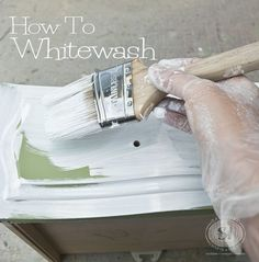 To Whitewash Wood Furniture How to whitewash furniture. Good Tutorial with recipe chart!How to whitewash furniture. Good Tutorial with recipe chart! White Washed Furniture, Old Furniture, Distressed Furniture, Paint Furniture, Repurposed Furniture, Furniture Projects, Furniture Makeover, Diy Projects, Luxury Furniture