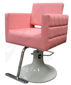 oh, how i wish i had a bubble gum pink salon chair! Home Hair Salons, Home Salon, Beauty Salon Decor, Beauty Bar, Minerva Beauty, Salon Business, Salon Equipment, Salon Furniture, Salon Design