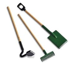 Miniature Tools - 3pcs Hoe, Rake & Shovel  Price $6.99