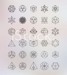 Sacred geometry. Alchemy, religion, philosophy, spirituality, hipster symbols and elements royalty-free stock vector art