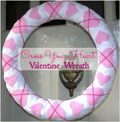Cross Your Heart Valentine Wreath - Sweet Pea