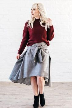 Guy Plaid Tie Skirt – Baltic Born