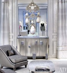 Another glamorous salon at Dior designed by Peter Marino.