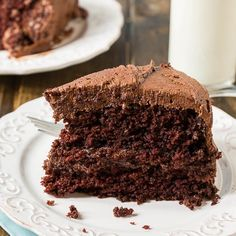 Mayonnaise takes the place of eggs and oil in this wonderfully moist and chocolaty Duke's Chocolate Mayonnaise Cake. A southern favorite! Southern Caramel Cake, Southern Desserts, Chocolate Mayonnaise Cake, Chocolate Cakes, Cake Recipes, Dessert Recipes, Frosting Recipes, Caramel Icing, Decadent Cakes