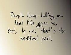 people keep telling me grief