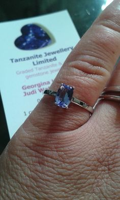 10k Tanzanite White Gold ring. 0.77 carats to this 7 x 5 mm Antique cut solitaire http://www.tanzanite-jewellery.co.uk/10k-tanzanite-white-gold-ring-505-p.asp