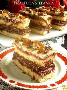 Ingrediente blat de biscuiti: * 200 g de biscuiti Petit Beurre * 100 g unt My Recipes, Cake Recipes, Dessert Recipes, Cooking Recipes, No Bake Desserts, Delicious Desserts, Romanian Desserts, Good Food, Yummy Food