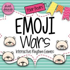 Winter Polar Bears Emoji Wars Ta Tadi Titi {Interactive Rhythm Game}No prep!Pick an emoji! Use these slides with your interactive white board or project on a screen to practice rhythm.  For interactive white boards: Students throw a soft yarn or squishy ball at the interactive white board and read the pattern that pops up!