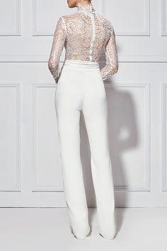 e1eea8d9b48 ALLEGRA LACE PANTSUIT - Shop Bridal Pants