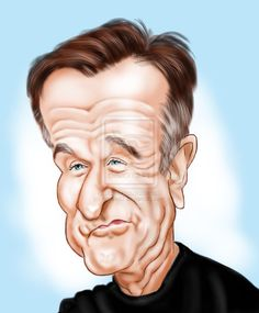Robin Williams by adavis57 on deviantART For this week's Caricaturama Showdown 3000!