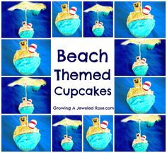 Beach themed cupcakes- great for a Summer party!