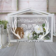 Our engraved gift card boxes are the perfect solution for collecting and securing your gifts with style! Money Box Wedding, Card Box Wedding, Wedding Designs, Wedding Ideas, Gift Card Boxes, Inspirational Gifts, Customized Gifts, Perfect Wedding, House Warming