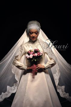 Wedding Gown for hijab #PerfectMuslimWedding.com