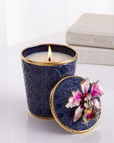 Shop Orchid Scented Candle from Jay Strongwater at Horchow, where you'll find new lower shipping on hundreds of home furnishings and gifts. Candels, Candle Lanterns, Diy Candles, Scented Candles, Gold Candles, Luxury Candles, Bougie Cupcake, Bougie Candle, Home Spray