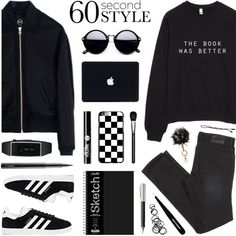 How To Wear 60 Second Style Black & White - @elliewriter Outfit Idea 2017 - Fashion Trends Ready To Wear For Plus Size, Curvy Women Over 20, 30, 40, 50