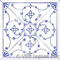 Blau Copenhagen blue and white tiles