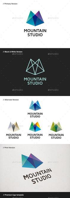Mountain Studio - Abstract Logo - Envato #logo #graphics #LogoDesign #LogoIdeas #BestDesignResources