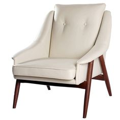 Faux Leather Retro Style Wing Back Arm Chair